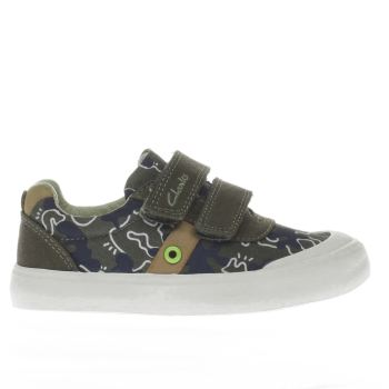 Clarks Khaki Comic Zone Boys Junior