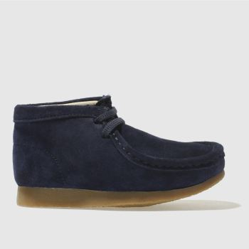 Clarks Originals Navy Wallabee Boot Boys Junior