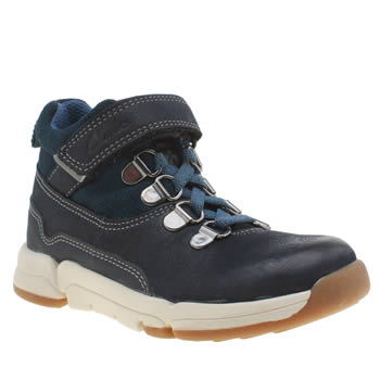 Clarks Navy Tri Spike Boys Junior