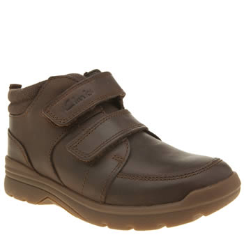 Clarks Brown Shadow Fun Width H Boys Junior