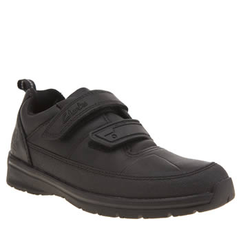 Clarks Black Reflect Ace Width E Boys Junior