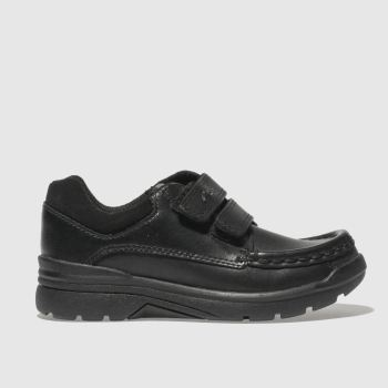 Clarks Black Obie Play Boys Junior