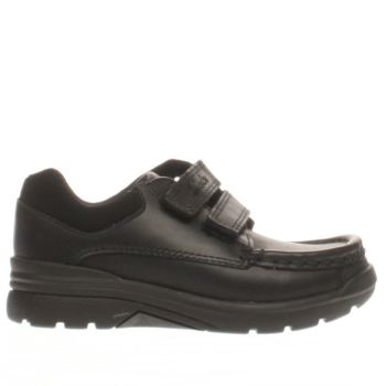 CLARKS BLACK OBIE PLAY BOYS JUNIOR SHOES