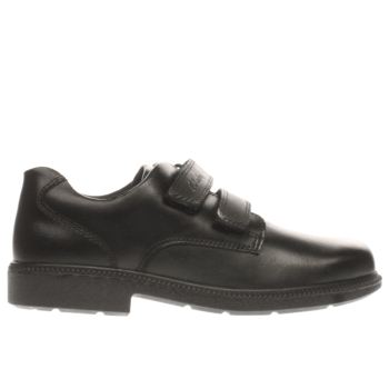 CLARKS BLACK DEATON GATE BOYS JUNIOR SHOES