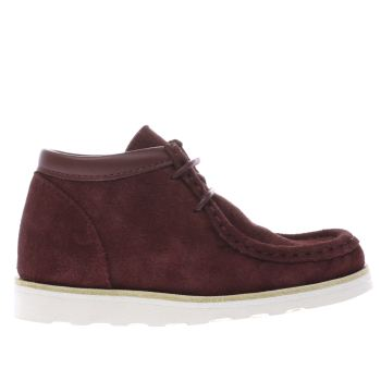 Young Soles Burgundy Joey Boys Junior