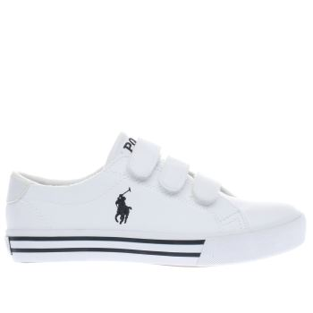 Polo Ralph Lauren White Slater Boys Junior