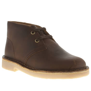 Clarks Originals Dark Brown Desert Boot Boys Junior