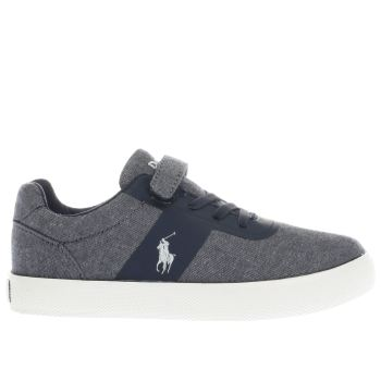 POLO RALPH LAUREN NAVY HANFORD BOYS JUNIOR TRAINERS