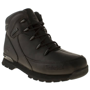 Boys Timberland Black Euro Rock Hiker Boys Youth