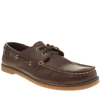 Timberland Dark Brown Seabury 2 Eye Boat Boys Youth