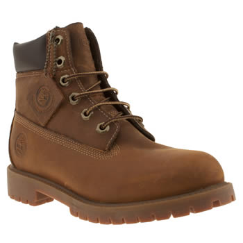 Timberland Dark Brown 6 Inch Authentic Boys Youth