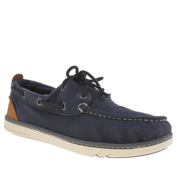 Timberland Navy Hookset Boat Shoe Boys Youth