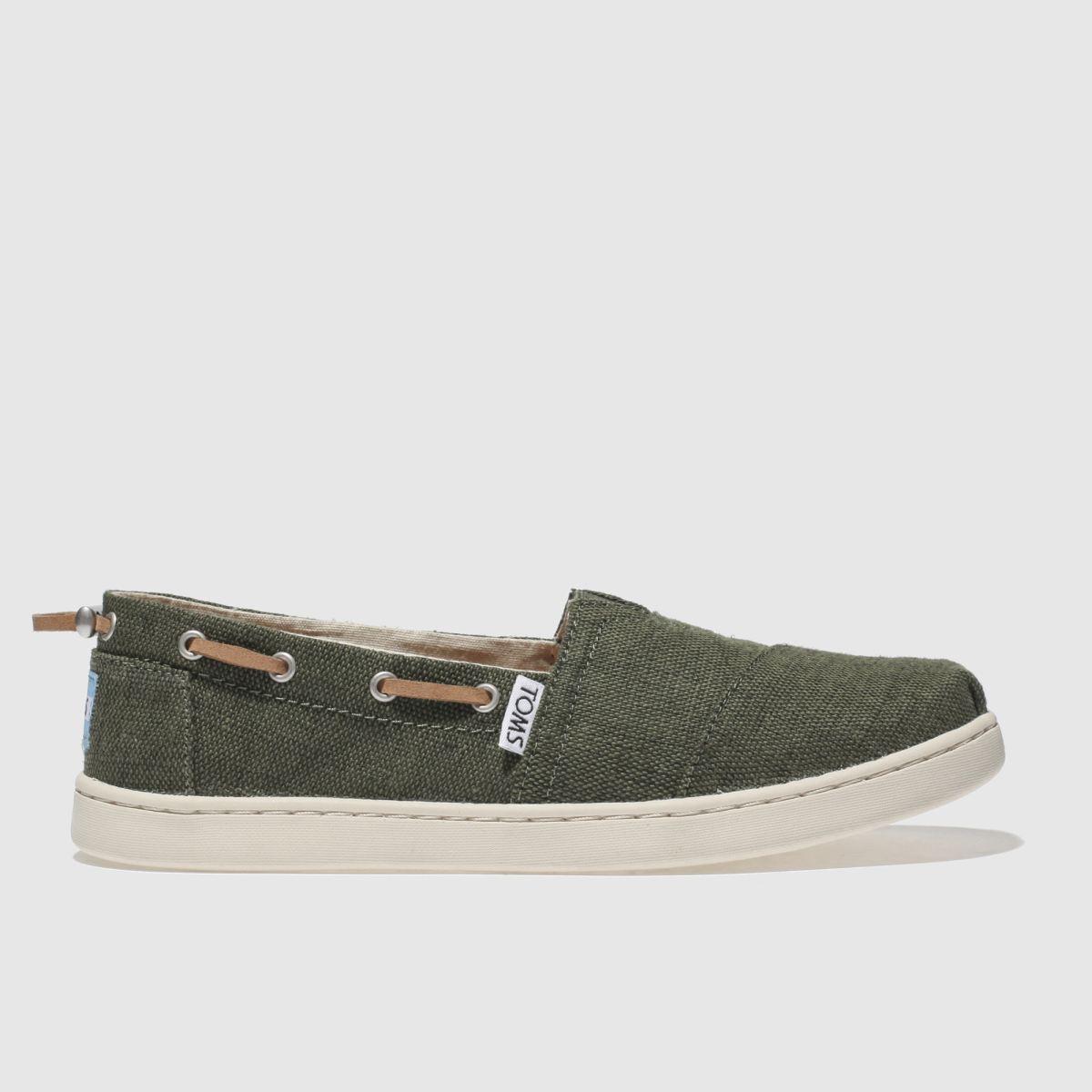 Toms Khaki Bimini Boots Youth