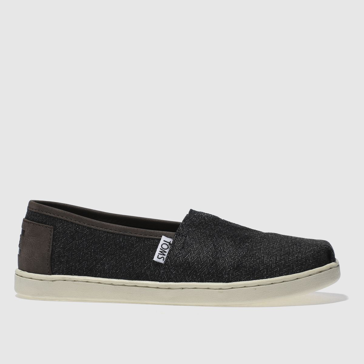 toms dark grey classic Boys Youth Shoes