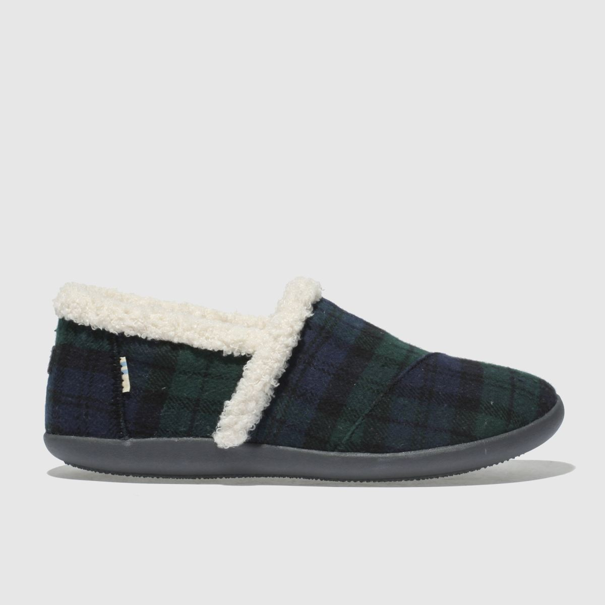 Toms Dark Green House Slipper Boots Youth