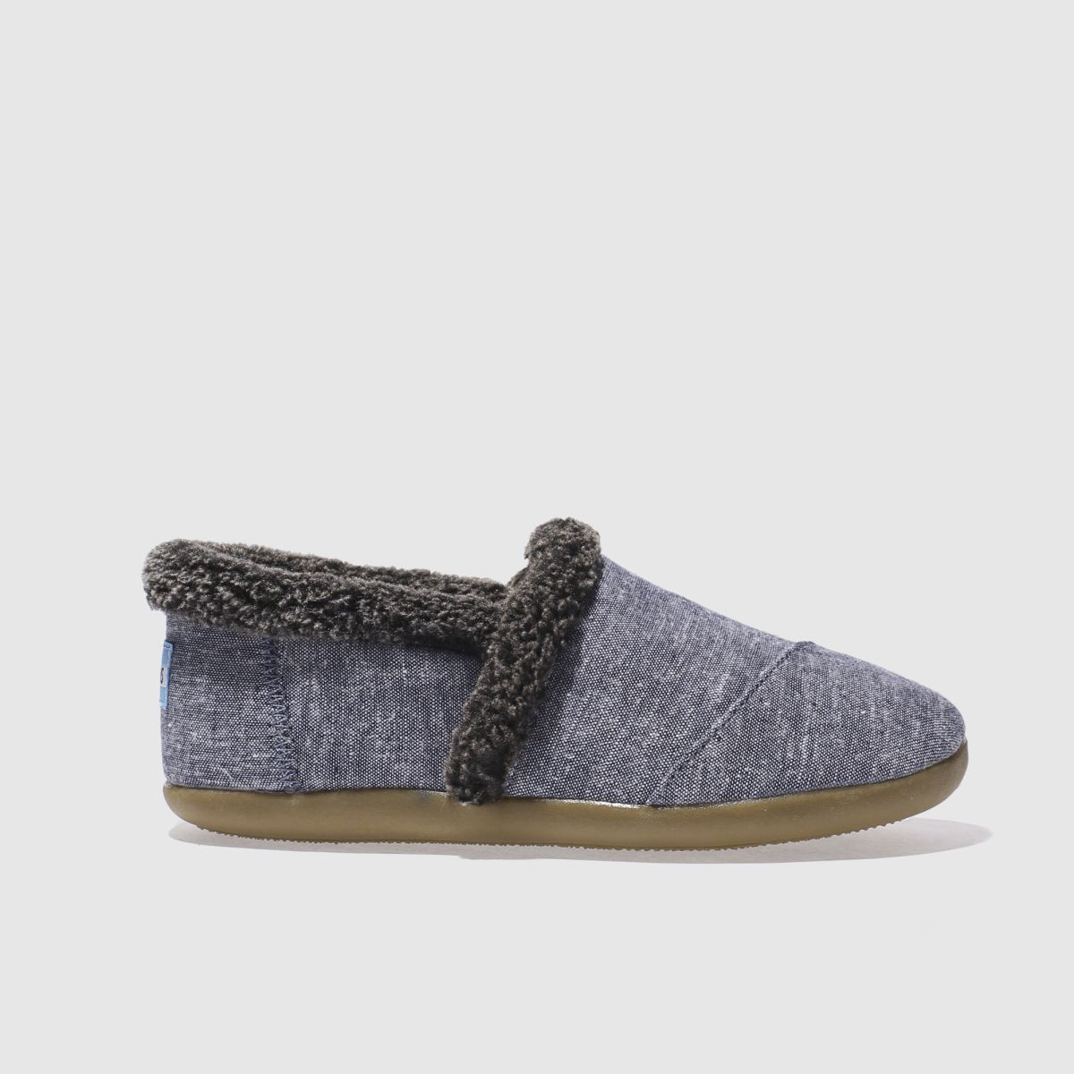 toms navy house slipper Boys Youth Shoes
