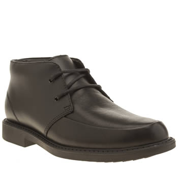 Clarks Black Maine Top Width F Boys Youth