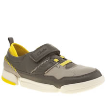 Clarks Dark Grey Tri Scotty Boys Youth