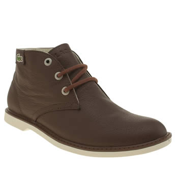 Lacoste Brown Sherbrooke Hi Boys Youth