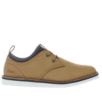 Clarks Tan Oscar Maze Boys Youth