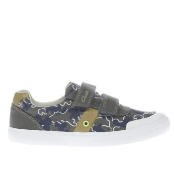 Clarks Khaki Comic Zone Boys Youth