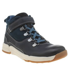 Clarks Navy Tri Spike Boys Youth