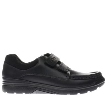 CLARKS BLACK OBIE PLAY BOYS YOUTH SHOES