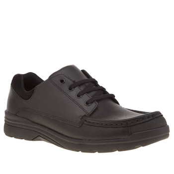 Clarks Black Loris Step Boys Youth