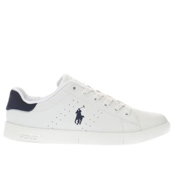 Polo Ralph Lauren White & Navy BILTON Boys Youth