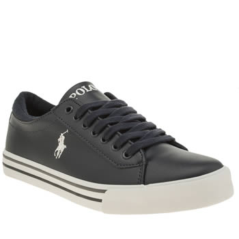 POLO RALPH LAUREN NAVY HARRISON BOYS YOUTH TRAINERS