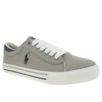 POLO RALPH LAUREN GREY HARRISON BOYS YOUTH TRAINERS