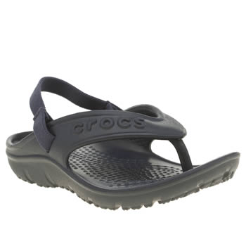 Crocs Navy Hilo Flip K Boys Toddler