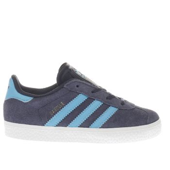 Boys Adidas Navy & Pl Blue Gazelle Boys Toddler