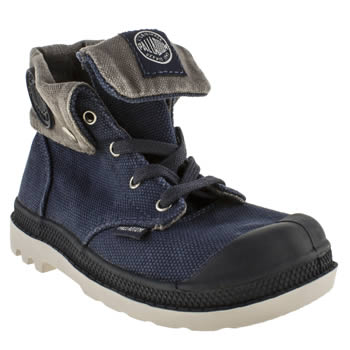 kids palladium navy baggy zipper trainers