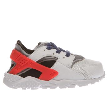 Nike White & Red Huarache Run Boys Toddler