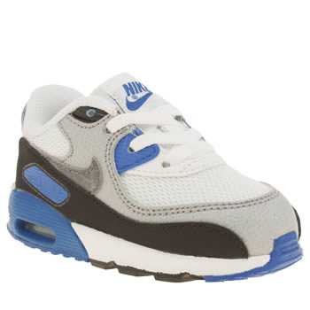 Nike White & Blue Air Max 90 Mesh Boys Toddler