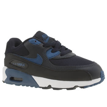 Nike Navy & Black Air Max 90 Mesh Boys Toddler