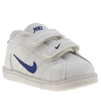 Boys Nike White & Blue Court Traditional 2 Boys Toddler