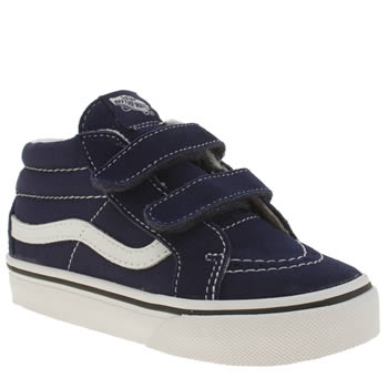 Boys Vans Navy & White Sk8 Mid Reissue Boys Toddler