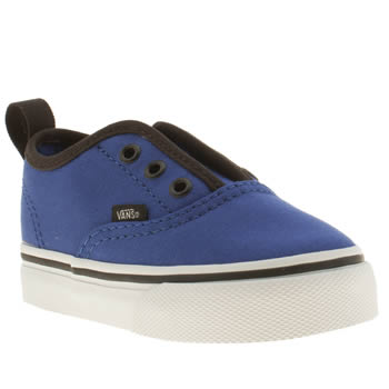 kids vans blue authentic v trainers