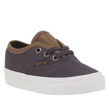 VANS DARK GREY AUTHENTIC BOYS TODDLER TRAINERS