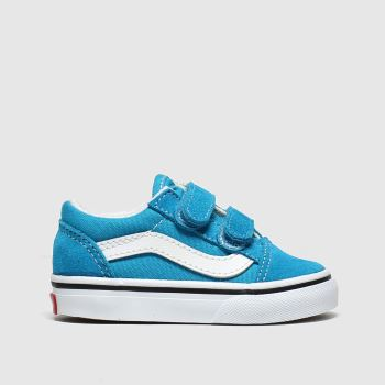 kids vans blue old skool v trainers