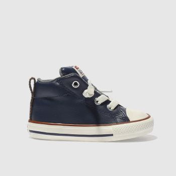 Converse Navy All Star Street Mid Boys Toddler