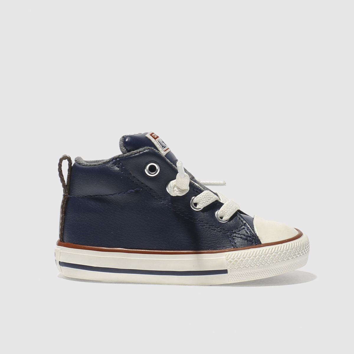 converse navy all star street mid Boys Toddler Trainers