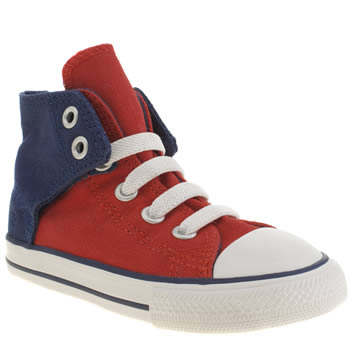Boys Converse Navy & Red All Star Hi Easy On Boys Toddler