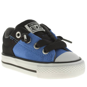 Boys Converse Black and blue All Star High St Boys Toddler