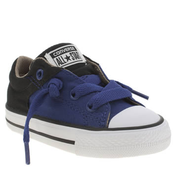 Converse Navy & Black All Star High Street Lo Boys Toddler