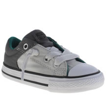 Converse Grey All Star High Street Lo Boys Toddler