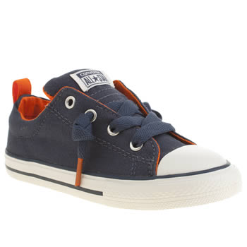 Boys Converse Navy & Orange Chuck Taylor All Star Street Boys Toddler
