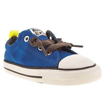 kids converse blue & yellow all star street ox trainers